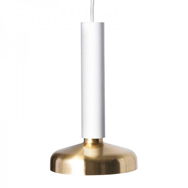 【Pholc】「Blend pendant LED, white-brass」ペンダントライト ホワイト-ブラス(Φ90×H160mm)