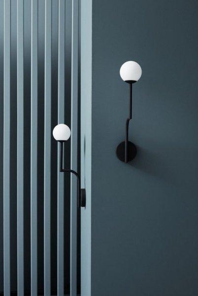 【Pholc】「Mobil 46 wall lamp, black」ウォールライト ブラック(Φ100×D163×H462mm)