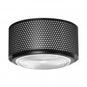 【Sammode】「G13 ceiling lamp, medium, black」シーリングライト ブラック(Φ250×H150mm)