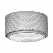 【Sammode】「G13 ceiling lamp, medium, grey」シーリングライト グレー(Φ250×H150mm)