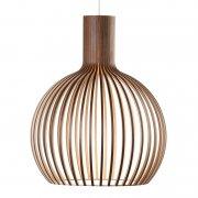 【Secto Design】「Octo Small 4241 pendant, walnut」デザイン照明  ウォルナット(Φ450×H550mm)