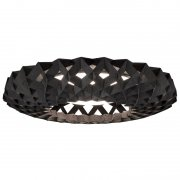 【Showroom Finland】「Pilke 65 ceiling lamp, black」シーリングライト ブラック(Φ650×H130mm)