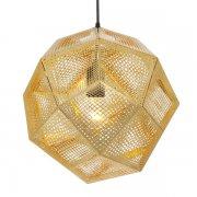 【Tom Dixon】「Etch pendant, brass」ペンダントライト ブラス(Φ320×H275mm)