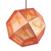 【Tom Dixon】「Etch pendant, copper」ペンダントライト 銅(Φ320×H275mm)