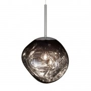 【Tom Dixon】「Melt Mini pendant, smoke」ペンダントライト スモーク(Φ270×H240mm)