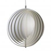 【Verpan】「Moon pendant 34 cm, white」デザイン照明 ホワイト(Φ340×H340mm)