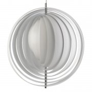 【Verpan】「Moon pendant 44,5 cm, white」デザイン照明 ホワイト(Φ445×H445mm)