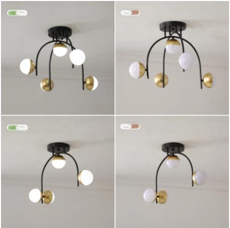【MEEGO】ボールデザイン照明 4/5灯 ゴールド(L500×W200×H350mm/Φ550×H350mm)