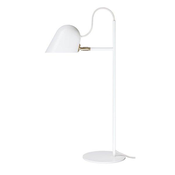 【Örsjö】「Streck table lamp, white-brass」テーブルランプ ホワイト-ブラス(Φ200×D365×H605mm)