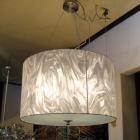<B>【ALABASTER】</B>ホワイトシェードシャンデリア 4灯(W500×H300mm)