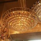 <B>【LA LUCE】</B>アスフールクリスタルシーリングシャンデリア 15灯(W780mm×H330mm)