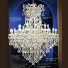 【LA LUCE】大型チェコorスワロフスキークリスタルシャンデリア 31灯(W1143×H1397mm)