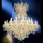 <B>【LA LUCE】</B>大型クリスタルシャンデリア 31灯 ゴールドorクローム(W1143×H1194mm)