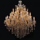 <B>【在庫有!】【LA LUCE】</B>アスフールorスワロフスキークリスタルシャンデリア 25灯 [豪華版2](W1000×H1100mm)