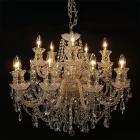 【在庫有!】【LA LUCE】チェコorスワロフスキークリスタルシャンデリア 15灯 クロームorゴールド(W770×H600mm)