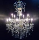【ゴールドのみ在庫有!】【LA LUCE】アスフールorスワロフスキークリスタルシャンデリア 15灯(H1010mm)