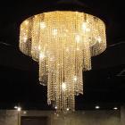 【LA LUCE】アスフールクリスタルシーリングシャンデリア 18灯 ゴールド(W900×H900mm)