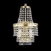 【Preciosa】最高級クリスタルウォールブラケット 2灯 ゴールド(W200×H370mm)