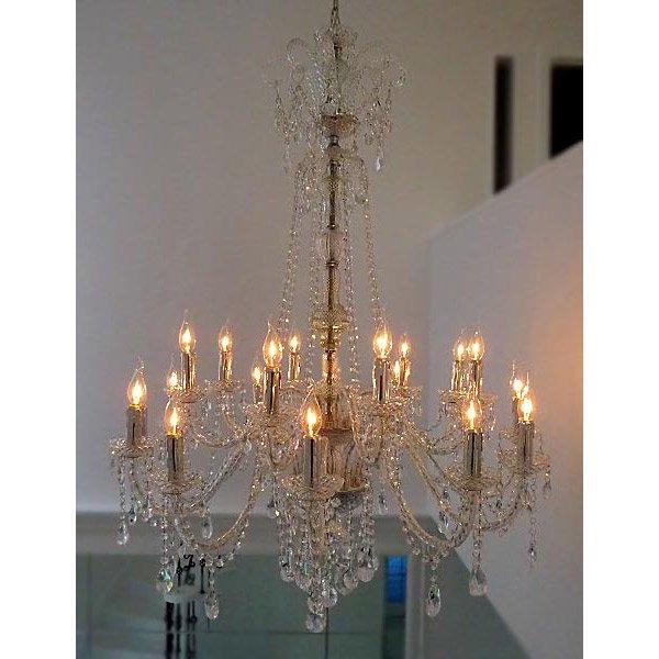 【在庫有!】【LA LUCE】アスフールorスワロフスキークリスタルシャンデリア 20灯(W1050×H1350mm)