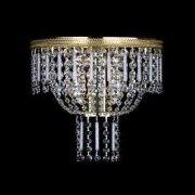 【Preciosa】最高級クリスタルウォールブラケット 2灯 ゴールド(W300×H270mm)
