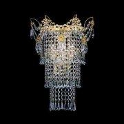 【Preciosa】最高級クリスタルウォールブラケット 3灯 ゴールド(W330×H460mm)