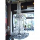 【LA LUCE】エンパイア型クリスタルボールシャンデリア 60灯(W1200×H2700mm)