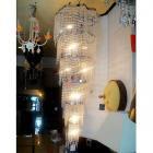<B>【ALABASTER】</B>ロングクリスタルシャンデリア 19灯 クローム(W600×H1650mm)