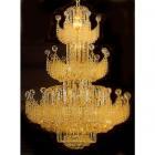 <b>【SUPRA】</B> 大型クリスタルシャンデリア 28灯 ゴールド(W850×H1150mm)