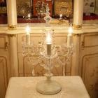 <b>【在庫有】</b>ホワイトシャンデリア・テーブルライト3灯(φ400×H600mm)