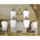 <b>【SUPRA】</B>アラバスターガラスシェードシャンデリア 15灯(W1200×H850mm)
