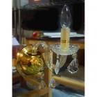 <B>【クロームのみ在庫有!】【LA LUCE】</B>クリスタルブラケット 1灯 ゴールドorクローム(W140×H380mm)