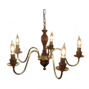 <b>【LAMPS】</b>アイアンシャンデリア 5灯(W625×H360mm)