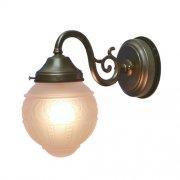 <b>【LAMPS】</B>屋外用 ガラスシェードウォールランプ 1灯(W140×D250×H230 mm)