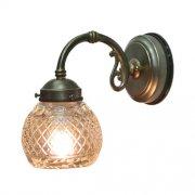 <b>【LAMPS】</B>屋外用(防雨型)ガラスシェードウォールランプ 1灯(W125×D230×H215 mm)