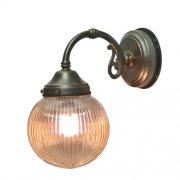 <b>【LAMPS】</B>屋外用(防雨型)ガラスシェードウォールランプ 1灯(W150×D240×H260 mm)