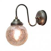 <b>【LAMPS】</B>屋外用 ガラスシェードウォールランプ 1灯(W160×D310×H290mm)