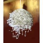 <B>【ALABASTER】</B>デザインクリスタルシャンデリア 1灯 クローム(W250×H230mm)