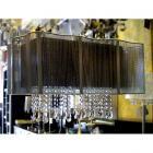 <B>【ALABASTER】</B>アスフールクリスタル シェードシャンデリア 3灯(L 600×W400×H250mm)