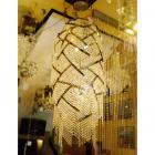 <B>【ALABASTER】</B>デザイン アスフールクリスタルシャンデリア 15灯(φ600×H1700mm)