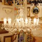 【JOSEF WRANOVSKY】チェコクリスタルシャンデリア 12灯 シルバー(W850mm)