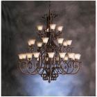 【KICHLER】米国・キチラー社モダンアイアンシャンデリア 28灯(W1854×H2159mm)