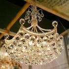<B>【LA LUCE】</B>アスフールクリスタルボールシャンデリア 9灯(W530×H570mm)