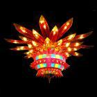 【LA LUCE】【特別照明】カラーシャンデリア 70灯(W2600×H1300mm)