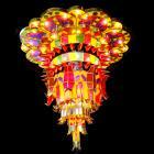 【LA LUCE】【特別照明】カラーシャンデリア 80灯(W1600×H1550mm)