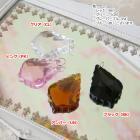チャイニーズクリスタルパーツ リーフ型 4ヶセット (全8色)