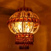 【1台在庫有!】【LA LUCE】「GLOBAL-シリーズ」クリスタルシャンデリア 2灯 ゴールド(W220mm)