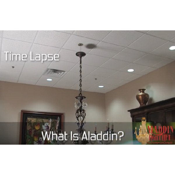 80kgまで対応可 【アメリカ・ALADDIN社】スイッチ付・電動昇降機〜小型照明から大型照明まで!