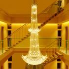 【LA LUCE】大型 エンパイア型チェコクリスタルシャンデリア 90灯(W1500×H3000mm)