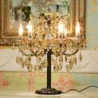 【ALABASTER】¥クリスタルテーブルシャンデリア 6灯 クリアブラウン(φ550×H 700mm)