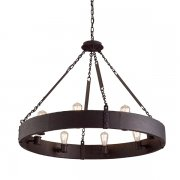 【TROY】アメリカ デザインアイアンシャンデリア 8灯「Jackson」(W920×H705mm)
